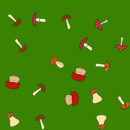 abstract vector doodle mushroom seamless pattern 写真素材 - 103922731
