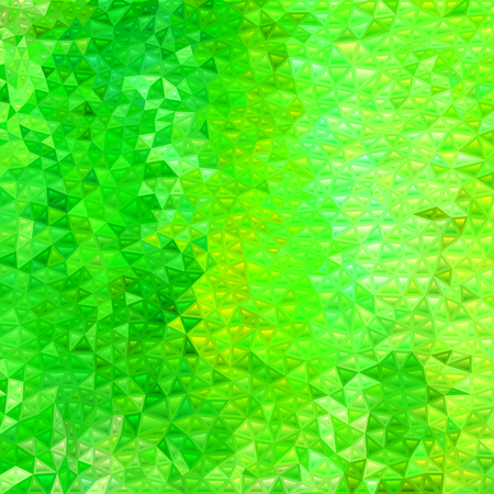 abstract vector stained-glass triangle mosaic background - bright green