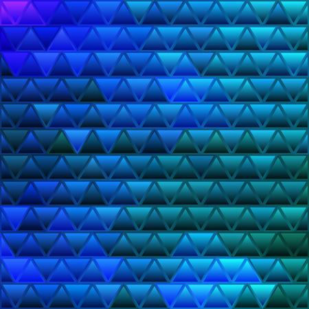 vettore astratto sfondo di mosaico triangolo in vetro colorato - blu scuro