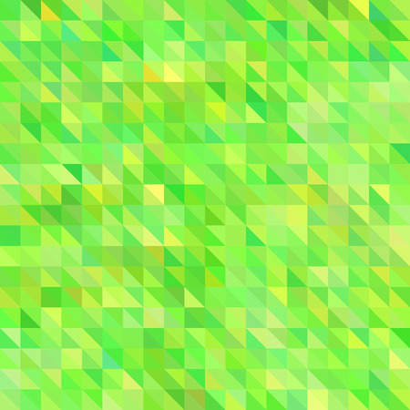 abstract vector geometric triangle background - green and yellow