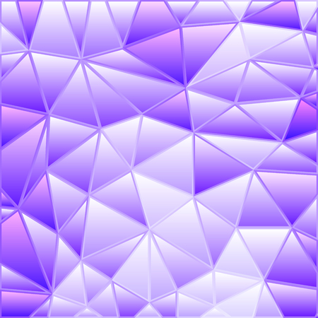 abstract vector stained-glass triangle mosaic background - purple and violet