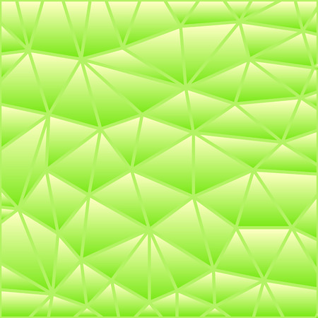 abstract vector stained-glass triangle mosaic background - green 일러스트