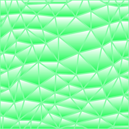 abstract vector stained-glass triangle mosaic background - green Illustration