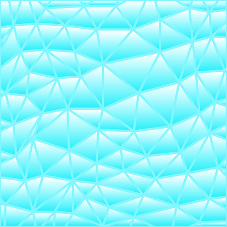 abstract vector stained-glass triangle mosaic background - bright blue