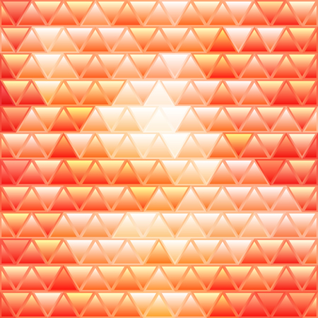 abstract vector stained-glass triangle mosaic background - yellow and orange  イラスト・ベクター素材