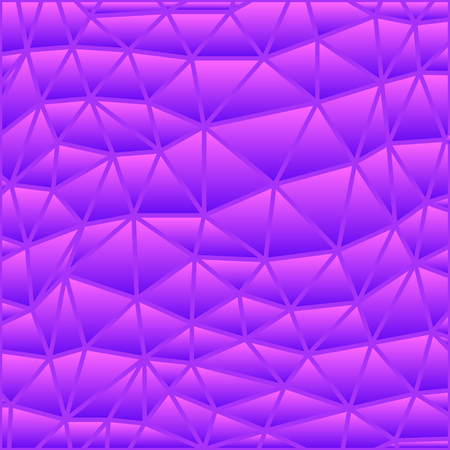 abstract vector stained-glass triangle mosaic background - purple and violet  イラスト・ベクター素材
