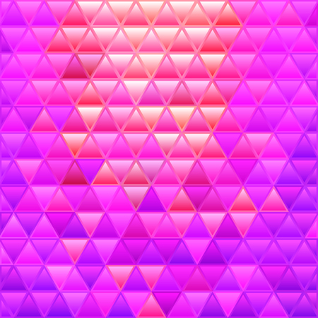 abstract vector stained-glass triangle mosaic background - purple and red  イラスト・ベクター素材