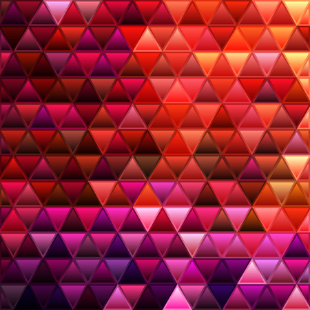 abstract vector stained-glass triangle mosaic background - red and purple 일러스트