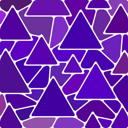abstract vector stained-glass mosaic background - violet triangles