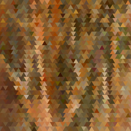 abstract vector geometric triangle background - brown and orange