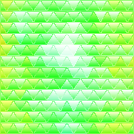 abstract vector stained-glass triangle mosaic background - green and yellow