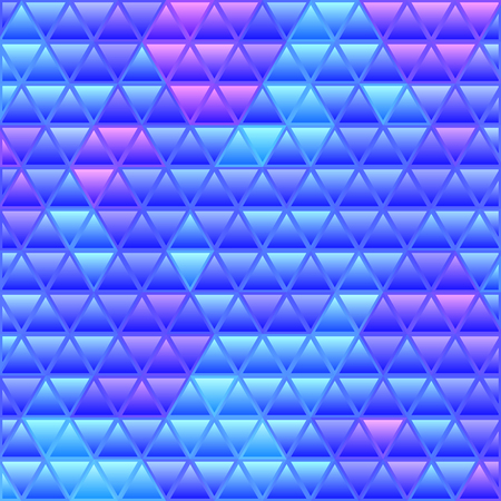 abstract vector stained-glass triangle mosaic background - blue and violet