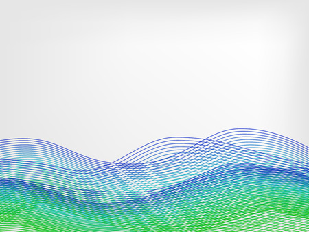 abstract vector waved line background - green and blue