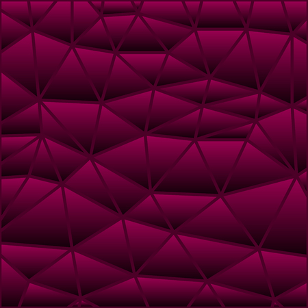 abstract vector stained-glass triangle mosaic background - purple and red 일러스트