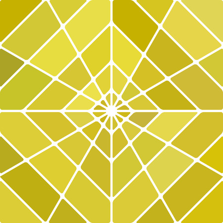 abstract vector stained-glass mosaic background - yellow rhombus Illustration