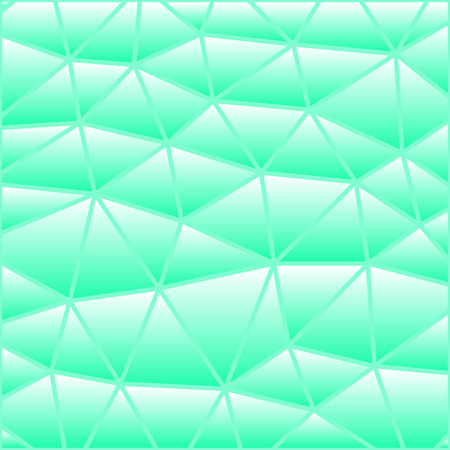 abstract vector stained-glass triangle mosaic background - green and blue Illustration