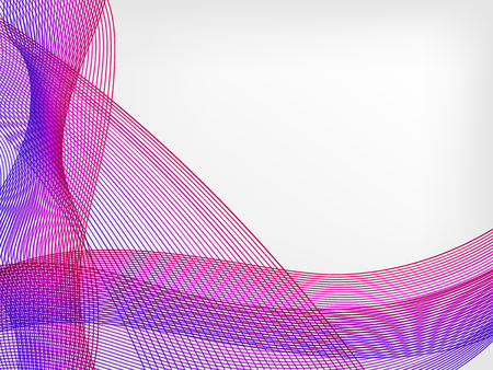 abstract vector waved line background - purple and violet  イラスト・ベクター素材