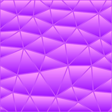 abstract vector stained-glass triangle mosaic background - purple and violet 일러스트