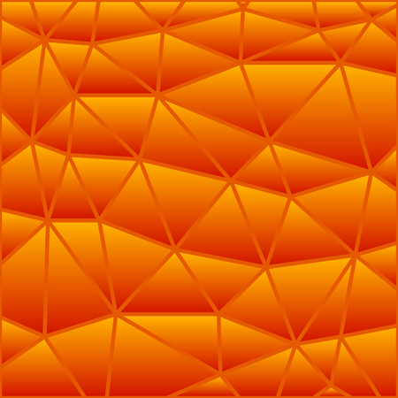 abstract vector stained-glass triangle mosaic background - orange
