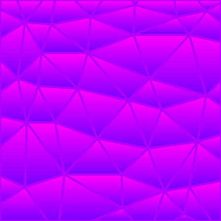 abstract vector stained-glass triangle mosaic background - purple and violet Illustration