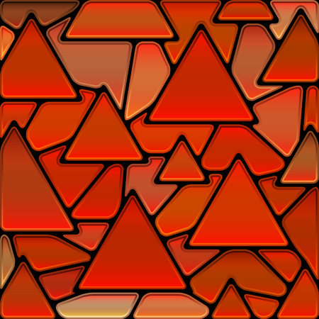 abstract vector stained-glass mosaic background - red triangles 일러스트