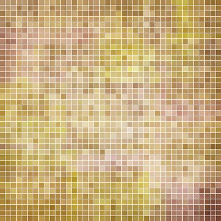 abstract vector square pixel mosaic background - beige Vektoros illusztráció