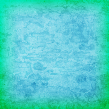 abstract vector grunge background - green and blue