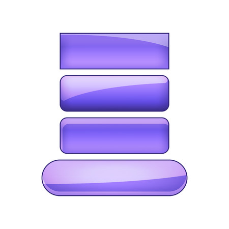 vector bright glossy web buttons set - violet  イラスト・ベクター素材