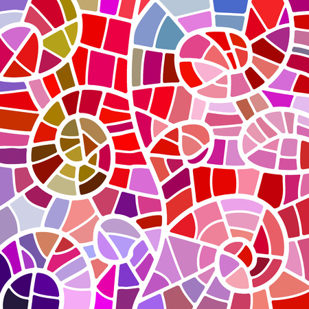 abstract vector stained-glass mosaic background - red and violet 일러스트