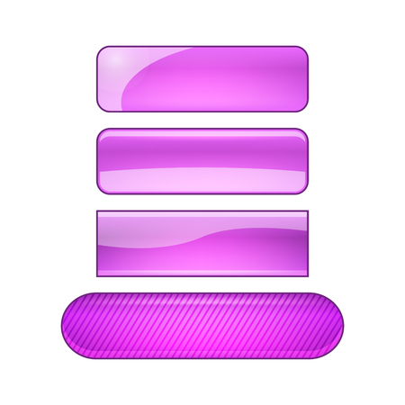 vector bright glossy web buttons set - purple