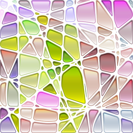 abstract vector stained-glass mosaic background - light green and violet