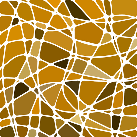 abstract vector stained-glass mosaic background - brown and yellow  イラスト・ベクター素材