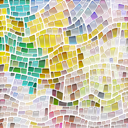 abstract vector stained-glass mosaic background - yellow, blue and gray 일러스트