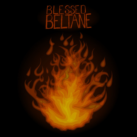 Bright fire in night. Blessed Beltane.