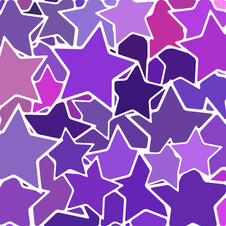 abstract vector stained-glass mosaic background - purple and violet stars
