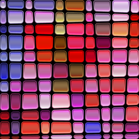 abstract vector stained-glass mosaic background - red and blue