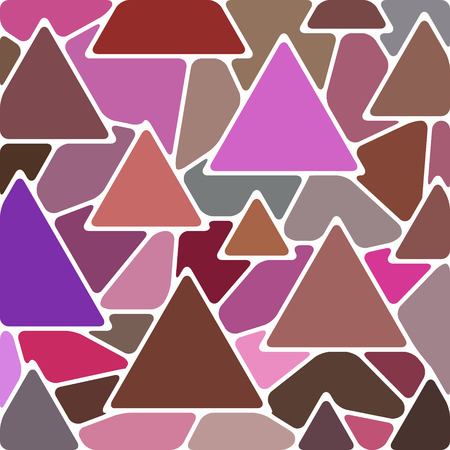 abstract vector stained-glass mosaic background - pink and brown triangles