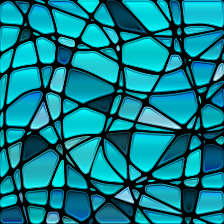 abstract vector stained-glass mosaic background - blue and gray