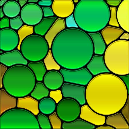 Stained-glass mosaic