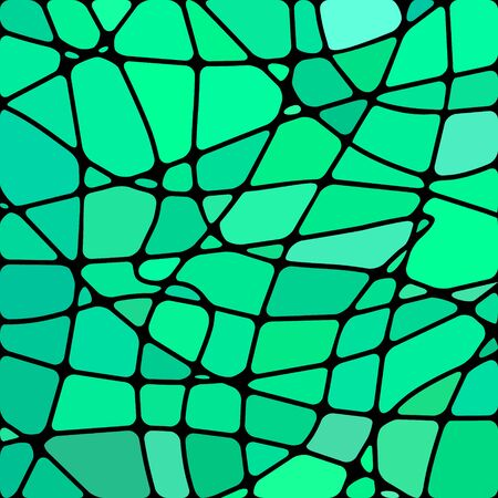 Stained-glass mosaic bright green