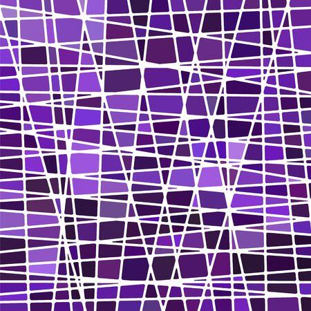 vettore astratto sfondo di vetro colorato mosaico - viola e viola Vettoriali