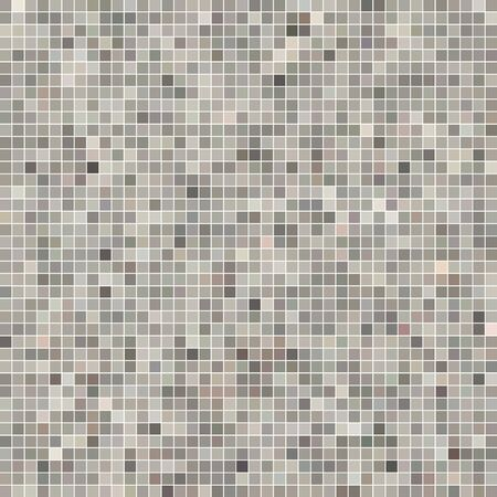 abstract vector square pixel mosaic background - gray and brown