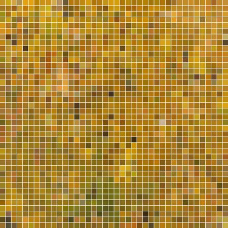 abstract vector square pixel mosaic background - yellow 일러스트