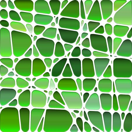 abstract vector stained-glass mosaic background - bright green 일러스트