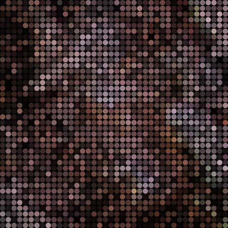 abstract vector colored round dots background - dark brown 일러스트