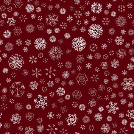 vector winter snow christmas seamless pattern Standard-Bild - 134896482