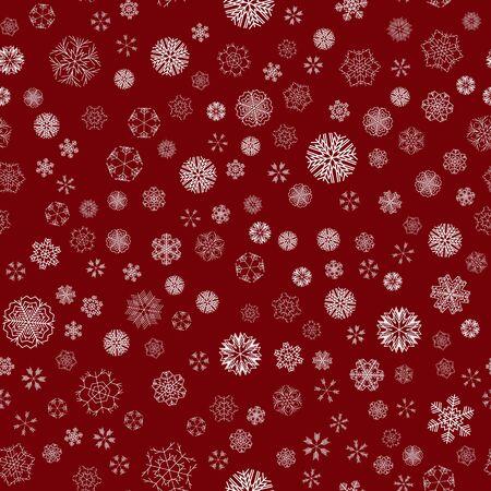vector winter snow christmas seamless pattern Standard-Bild - 134899381