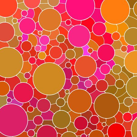 abstract vector stained-glass mosaic background - yellow and purple circles