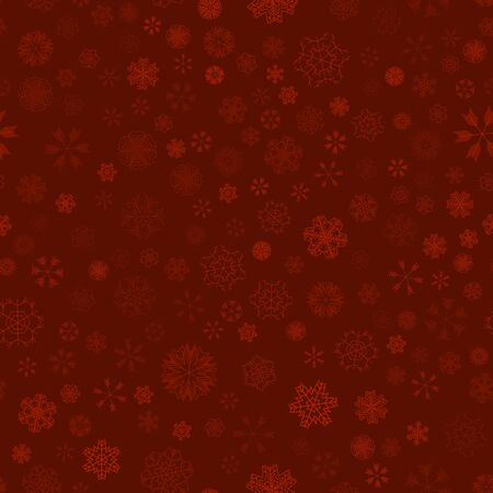 vector winter snow christmas seamless pattern