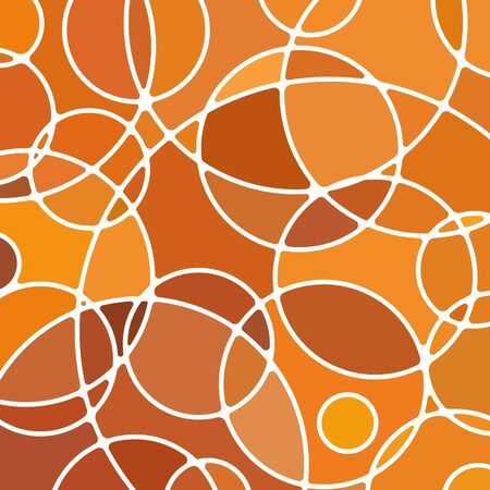 abstract vector stained-glass mosaic background - orange circles